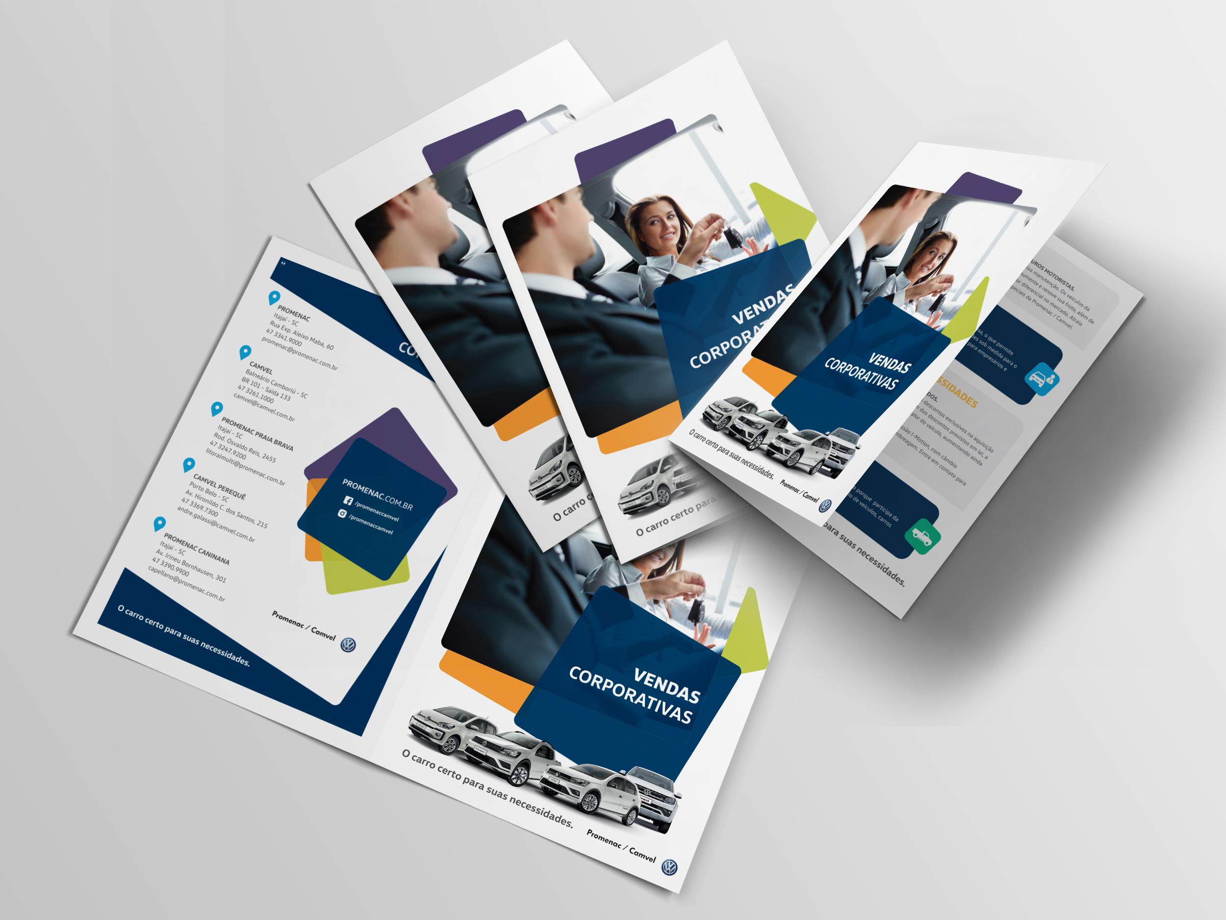 bifold brochure invista comunicação